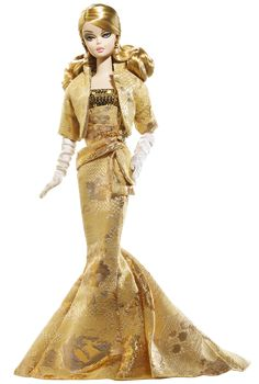 Golden Gala Barbie® Doll | Barbie Collector *Silkstone Designed by: Robert Best  Release Date: 7/1/2009