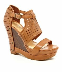 6ddbfe0305 Gianni Bini Jaynie Perforated Wedge Sandals I got this shoe last year in  black and even though its made a little different this year, I'm still in  love with ...