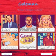Zappos calls again in 2002 #171 SOLEMAN STUDIOS Managing People, Positive Outlook, Job Offer, Stick It Out, I Feel Good, I Care, Good Job, My Father, To Focus
