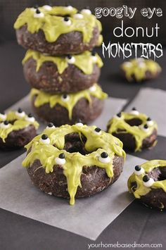 Donut Monsters | Community Post: 16 Silly Monster Treats You Can Actually Make This Halloween