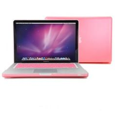 GMYLE (TM) Pink Rubberized-see-through Hard Case Skin Aluminum Unibody 13 Inches Macbook Pro with Silicon Pink Protective Keyboard Cover