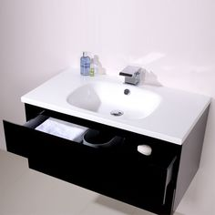 Barcelona 900 Black Vanity Unit - Black And White Bathroom Ideas - Black And White Vanity Unit - Better Bathrooms White Vanity Unit, Black Vanity, Vanity Units, Bathroom Flooring, Bathroom Furniture, Bathroom Ideas, Better Bathrooms, Amazing Bathrooms, Black White Bathrooms