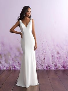 2018 Allure Bridal Gowns available at Bella's Bridal and Formal in Hoover, Alabama. Huge Selection including Plus Size Gowns. Allure Bridal Trunk Show April Wedding Dress Styles, Bridal Dresses, Wedding Gowns, Bridesmaid Dresses, Satin Dresses, Bridesmaids, Allure Bridesmaid, Allure Romance, Allure Couture