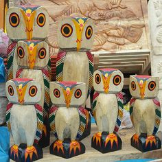 Bengal Owl. Natungram Wood Carvings / Katwa Dolls  Pinned by www.myowlbarn.com