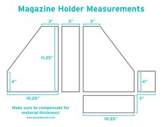 DIY Magazine Holders | Karen Kavett