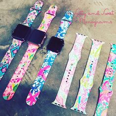 Lilly Pulitzer Apple watch bands by SaltynSweetMonograms on Etsy