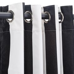 Outdoor Curtains - Pawleys Island Hammocks Cabana Black Sunbrella Nickel Grommeted Outdoor Curtain 50 x 108 * Be sure to check out this awesome product.