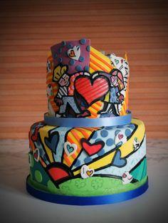 Romer Britto inspired cake www.sweetlittlebites.info