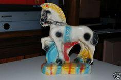 Vintage Chalkware Carnival Souvenir Prize Horse Statue Colorful Good Condition | eBay