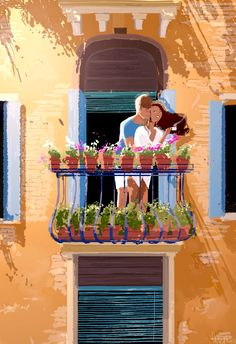 The Art Of Animation — Pascal Campion -. Image Couple, Cute Couple Art, Photo Couple, Couple Illustration, Illustration Art, Couple Drawings, Art Drawings, Pascal Campion, Love Art