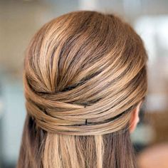 Weave your hair with bobby pins.