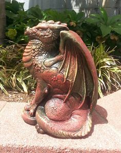 Mythical Dragon Statue 11 Sculpture Home Garden by ArtofHistory