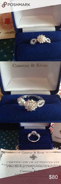 Camrose&Kross silver/diamond ring Camrose & Kross reproduction of  one of Jacqueline Bouvier Kennedy's diamond rings.  Brand new/never worn.  Actually made of .925 silver. Camrose& Kross Jewelry Rings