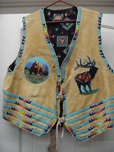 Native American Beaded Vest with Cut Beads Indian Chief | eBay Native American Beading, Native American Indians, Crow Indians, Girls Hand, Purple Velvet, Nativity, Pouch, Beads, Fashion