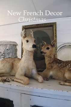 my deer - pollewop brocante Taxidermy Decor, Faux Taxidermy, French Christmas, White Christmas, Eland, Baby Nursery Art, Antique Show, French Home Decor, Baby Decor