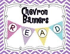 These colorful banners coordinate perfectly with the rest of my chevron classroom decor. This set includes three banners:-Welcome-Read-Write-Word WallEnjoy!Click HERE for a full set of banners A to Z!