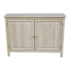 Add extra storage and style to your entryway or hall with the International Concepts Hall Cupboard . This solid wood cupboard features two cupboard doors. Hall Cupboard, Unfinished Wood Furniture, Solid Wood Cabinets, Accent Cabinets, Thing 1, Wood Countertops, Cabinet Handles, Storage Cabinets, Adjustable Shelving