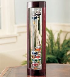 Galileo Thermometer with Cherry Finish Wood Frame in Holiday 2012 from Wind & Weather on shop.CatalogSpree.com, my personal digital mall.