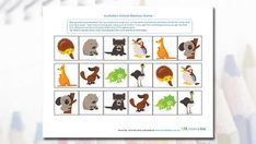 How good is your memory? Simply cut up and play this Australian animal memory game with your child! The perfect activity for any animal lover in need of some entertainment. Animal Worksheets, Kids Math Worksheets, Animal Activities, Animal Crafts, Classroom Activities, Activities For Kids, Australia School, Australia Day, Possum Magic