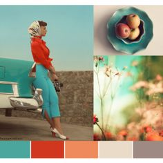 Color Palette: turquoise & red  fresh fixation by Karina Ramos