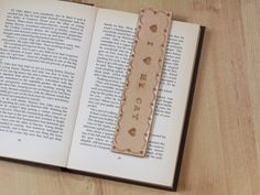 I Heart My Cat Bookmark Deluxe Leather by TinasLeatherCrafts. Repin To Remember.