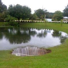 Sinkhole in Live Oak, Florida