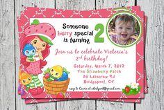 Strawberry Shortcake Invitation by olivepresspaper on Etsy, $12.50