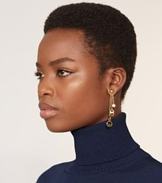 Tory Burch Multi-logo Drop Earring Short Afro Hairstyles, African Hairstyles, Dark Skin Beauty, Hair Beauty, Curly Hair Styles, Natural Hair Styles, Beautiful Black Hair, Tapered Natural Hair, Look Plus Size