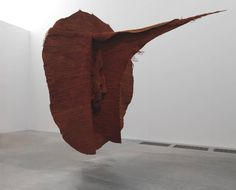 """""""Art does not solve problems but makes us aware of their existence. It opens our eyes to see and our brain to imagine."""" Magdalena Abakanowicz, June 20, 1930 (age 85 years)  Abakan Red, 1969"""