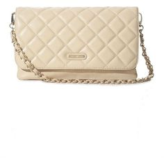 GUESS by Marciano Carly Quilted Shoulder Bag ($104) ❤ liked on Polyvore