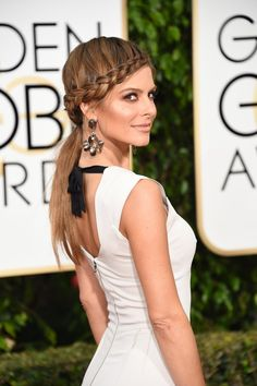 Pin for Later: Die besten Zöpfe & geflochtenen Haarstyles der Award Season Maria Menounos bei den Golden Globe Awards 2016