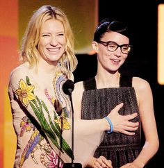 """Cate Blanchett and Rooney Mara at The 2016 Film Independent Spirit Awards (x) """