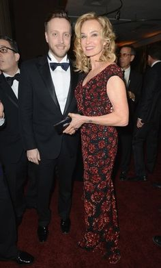 InStyle Editor Ariel Foxman with actress and Globe nominee Jessica Lange.
