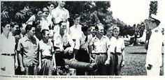 JFK delivers a speech to enlistees in Charleston, SC #JFK #Charleston #battery #cannon