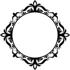 Stencils, Stencil Art, Molduras Vintage, Heart Frame, Wedding Logos, Borders And Frames, Mandala Drawing, Pattern Illustration, Button Crafts