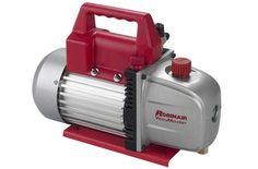 Robinair VacuMaster Single Stage Vacuum Pump - Single-Stage, 3 CFM Free air displacement: 3 CFM Intake fitting: inch flare and inch Acme intake ports Voltage: Top Rated Vacuums, Hvac Tools, Best Vacuum, Vacuum Pump, Air Conditioning System, Automotive Tools, Outdoor Power Equipment, Conditioner, Pumps