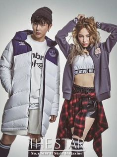 Heize & BEAST's Junhyung for THE STAR Magazine December Issue