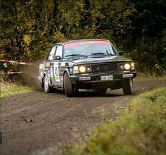 Patrik Flodin in a 240 at Rally Uppsala (SM) 2013. Photo by Jens Karlsson
