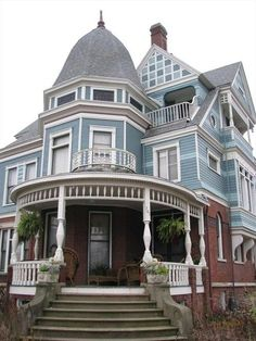 Pinterest: @CoffeeQueen4 Thank you xoxo.    The George H. Cox House, Bloomington, Illinois, a site on the National Register of Historic Places, built in 1886, George Miller, architect.