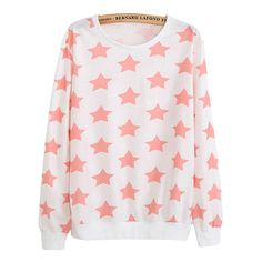 Here's literally just a cute sweater with pink stars on it.