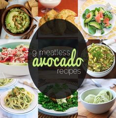 Go Green with these 9 Vegetarian Avocado Recipes - bet you didn't know it was so versatile! #MeatlessMonday