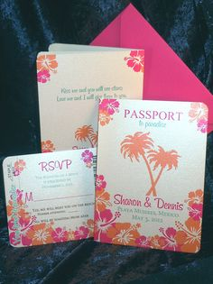 Deposit - Tropicality Passport Invitation. $50.00, via Etsy.