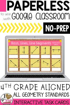4th grade geometry | 4th grade math | Geometry for Google Classroom | 4th grade google classroom | teaching angles | This resource covers all 4th grade geometry standards and is completely paperless. ($)