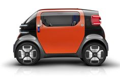 Citroen Ami One Concept Cities across the world are booming once again, and vehicle manufacturers are focusing on driverless urban transportation. The Citroen Ami One concept looks to provide… Microcar, Citroen Concept, Peugeot 3008, Automobile, Geneva Motor Show, City Car, Futuristic Cars, Bmw X3, Cars