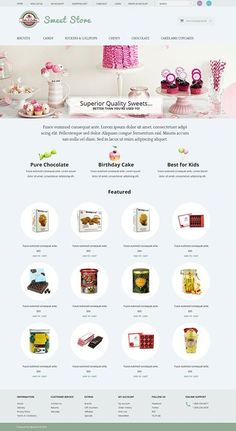 Come take a look guys!!!   Sweets OpenCart Template CLICK HERE! live demo  http://cattemplate.com/template/?go=2fU5rl0