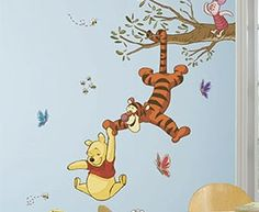 Winnie the Pooh Swinging for Honey Giant Wall Decals