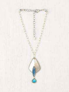 Free People Turquoise Three Tier Shell Pendant, $49.95
