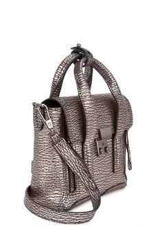 3e3c8c633178 3.1 PHILLIP LIM Pashli mini metallic mauve satchel - Micro bags - Bags -  All Accessories