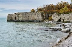Limestone rock located on the east side of Lake Manitoba in the community of Steep Rock Canada Lake Photography, Autumn Photography, Landscape Photography, Steep Rock, Limestone Rock, Rock Artists, Mini Vacation, All Nature, Autumn Art
