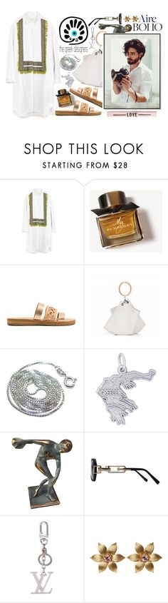 """greek"" by siwarchihawi ❤ liked on Polyvore featuring Burberry, Rembrandt Charms, Louis Vuitton, La Perla, thegreekdesigners and mykonosblues"